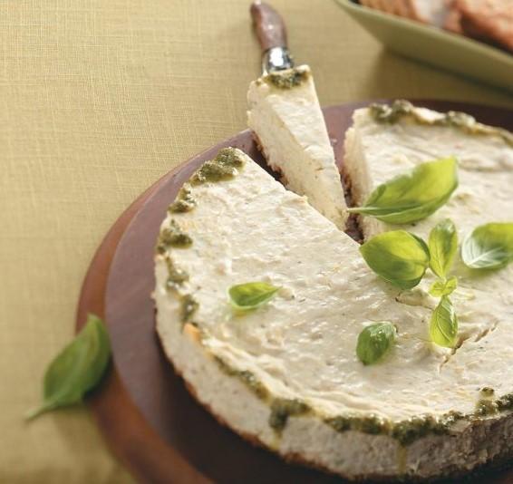 Savory Crab-Pesto Cheese Wheel for Saint Patrick'sDay