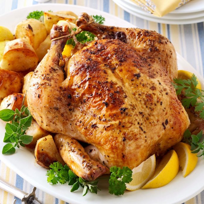 Sunday Roasted Herb Chicken and Potatoes