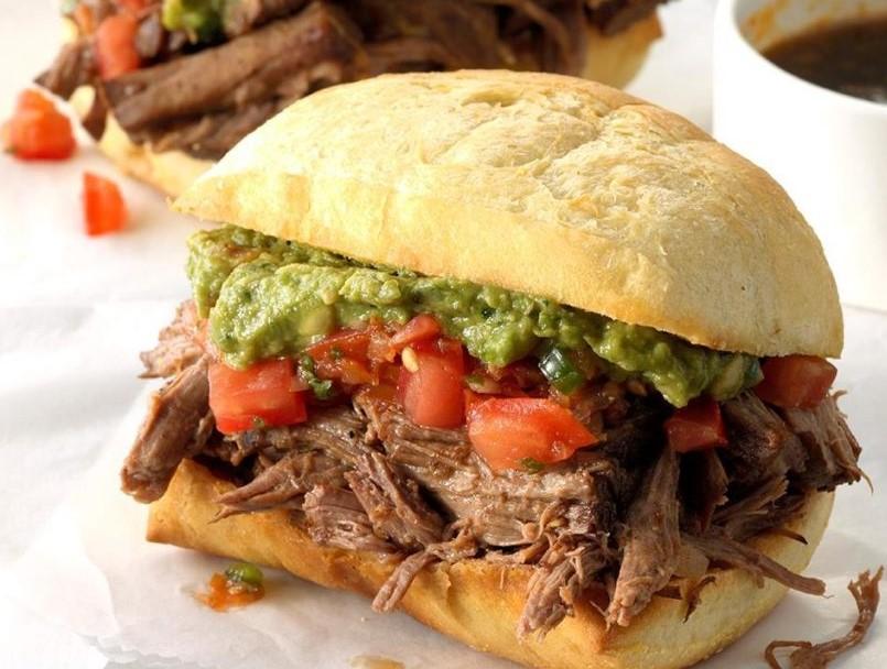 Tex-Mex Beef DipSandwiches