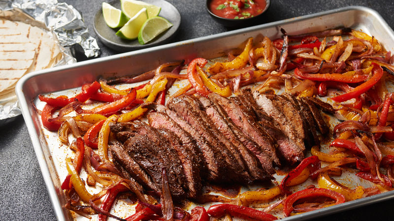 One-Pan Flank Steak Fajitas Bursting with Flavors