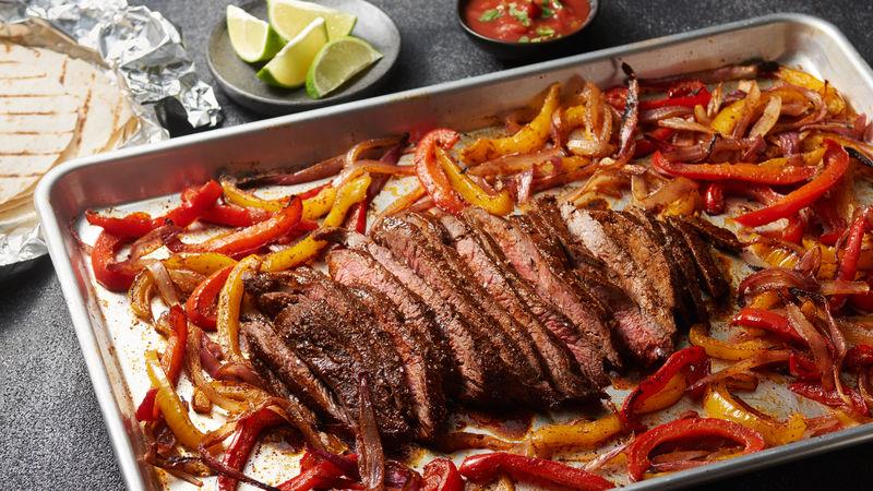One-Pan Flank Steak Fajitas Bursting withFlavors