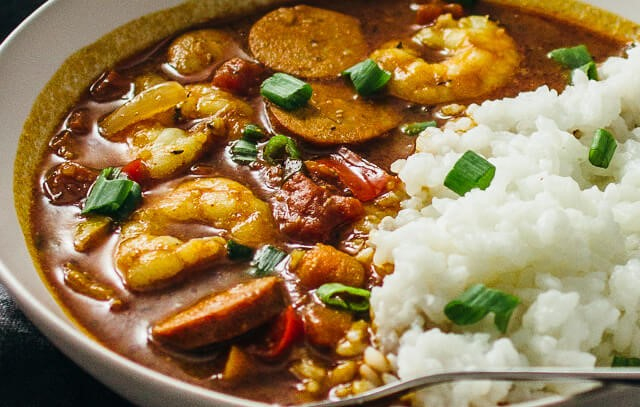 Louisiana Shrimp and Andouille Sausage Gumbo