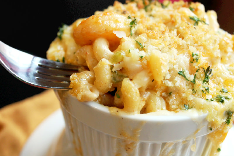 Cajun Shrimp Macaroni and Cheese
