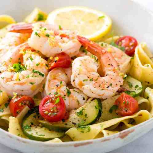 shrimp with lemon garlic sauce