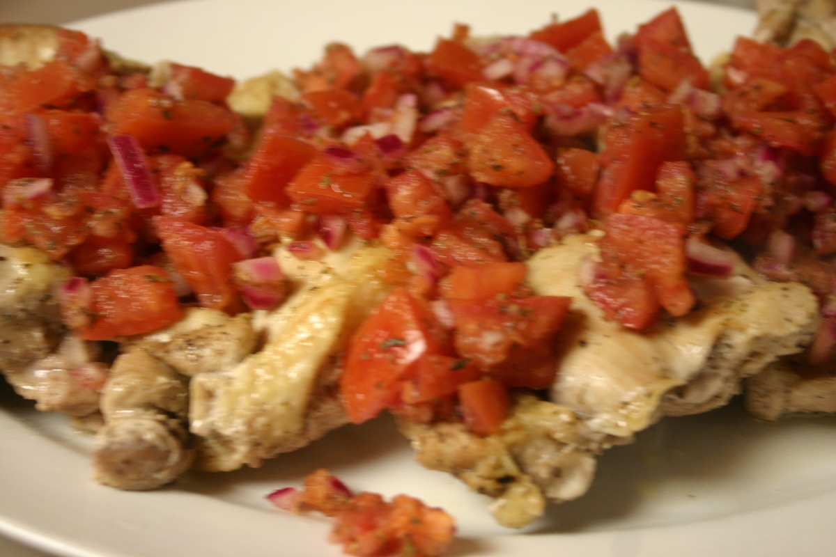 Baked Chicken Thighs with Italian TomatoRelish