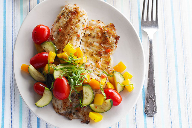 Quick Skillet Tilapia and Vegetable Supper