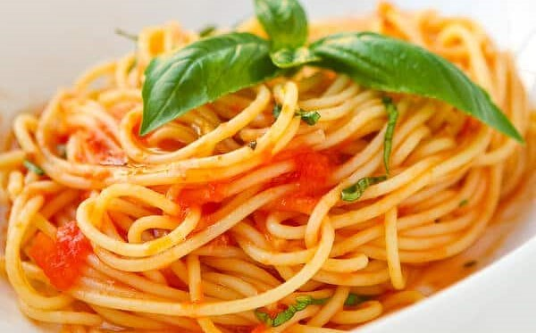 Pasta in a Basil Tomato Sauce