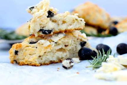 Mound of Olive Tea Scones