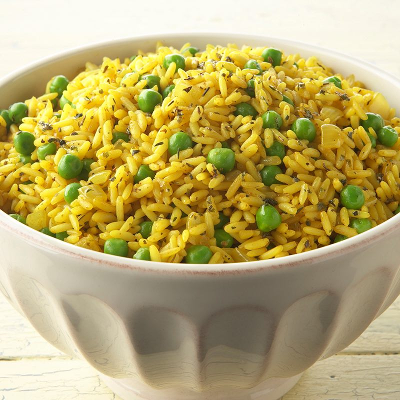 Caribbean Yellow Rice with Peas