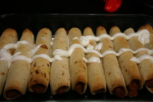 Bean and Chorizo FlourTaquitos (10)