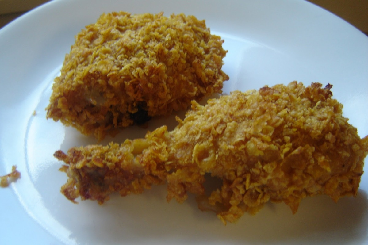 Corn Flake Crunchy Oven FriedChicken