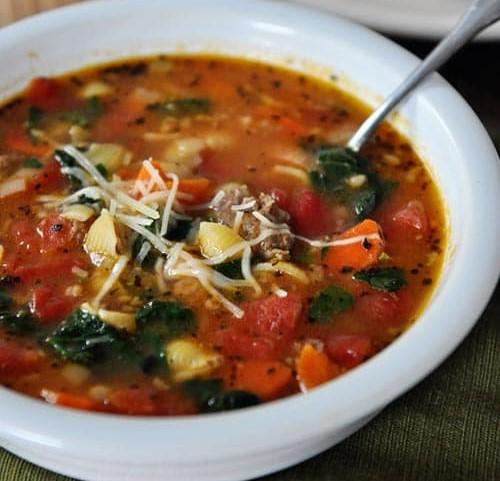 Spicy Italian Sausage and White BeanSoup