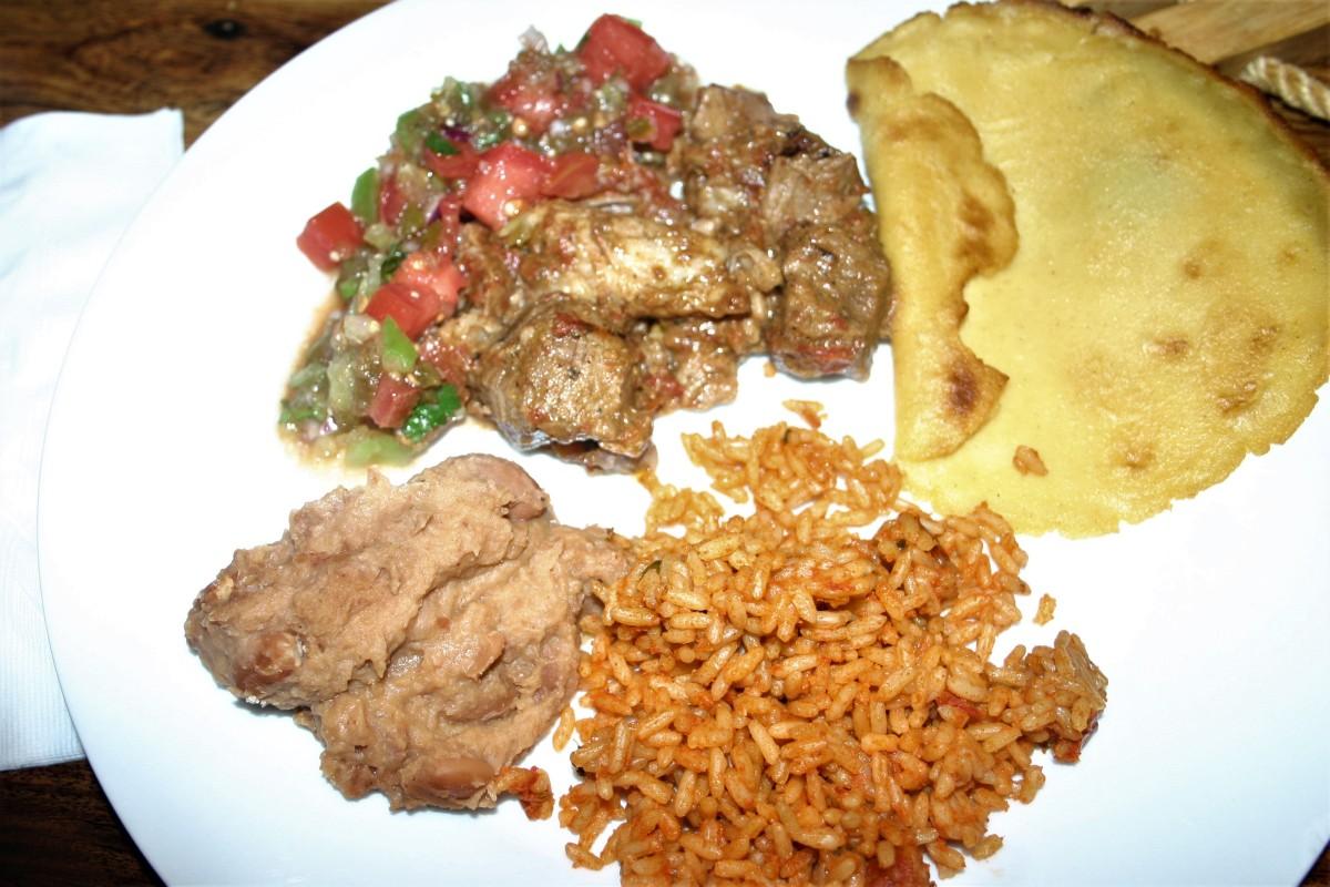 Pork Carnitas with Cilantro Tomatillo Salsa and Hand-PressedTortillas
