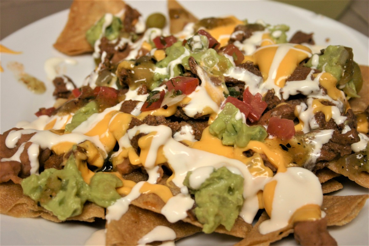 Carne Asada Nachos with Home-Made Chips