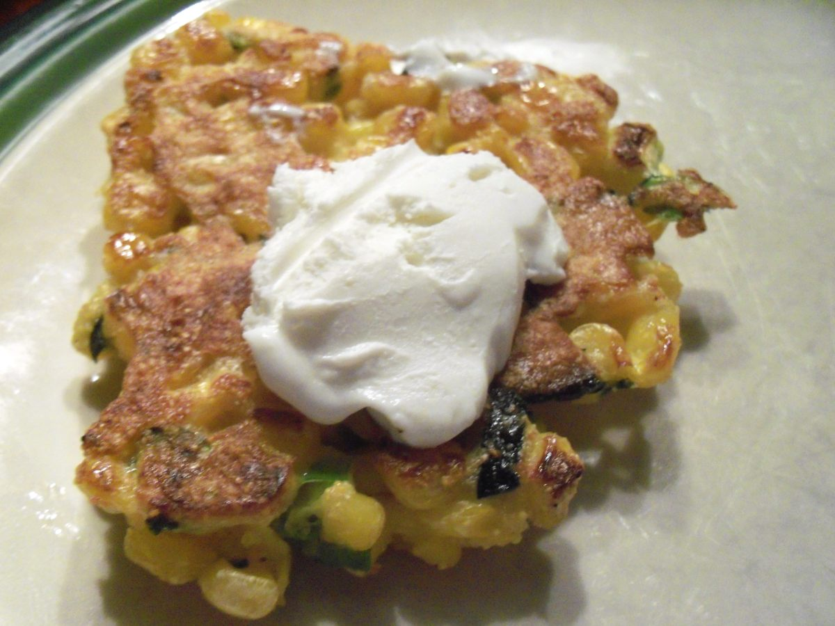 Corn Cakes with Whipped Goat Cheese