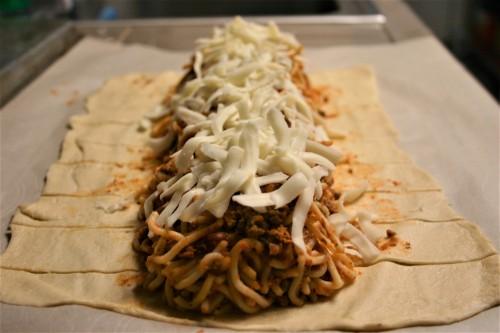 Braided Spaghetti Stromboli (3)