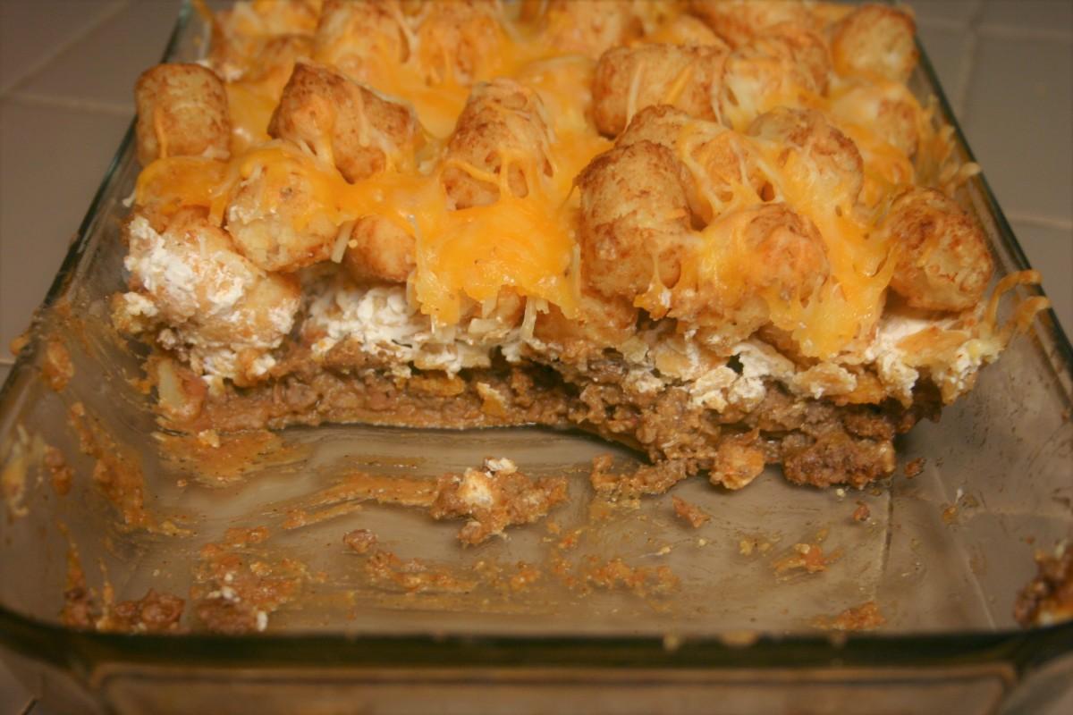 Corn Chip Taco Tater-TotCasserole