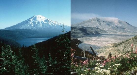 Mount Saint Helen Before & After (2)