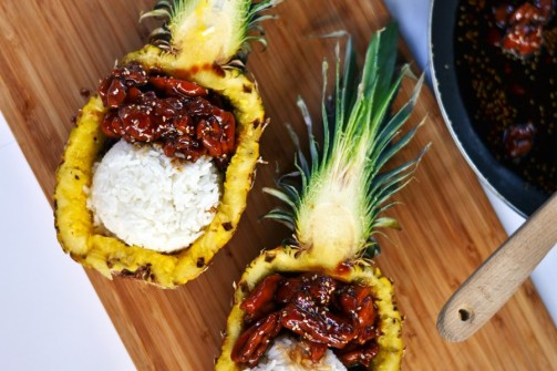 TERIYAKI-CHICKEN-_-RICE-PINEAPPLE-BOAT-3