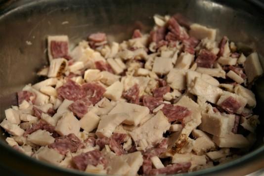 Chopped Deli Salad in Pasta Shells (1)