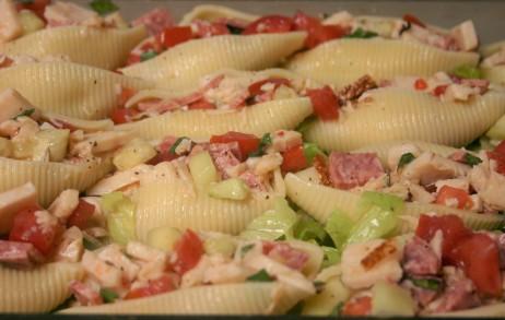 Chopped Deli Salad in Pasta Shells (15)