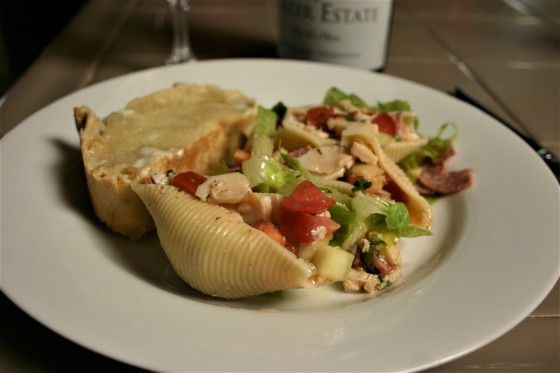 Chopped Deli Salad in Pasta Shells (16)