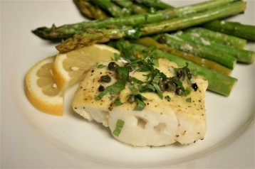 Baked Cod Piccata with Asparagus (5)