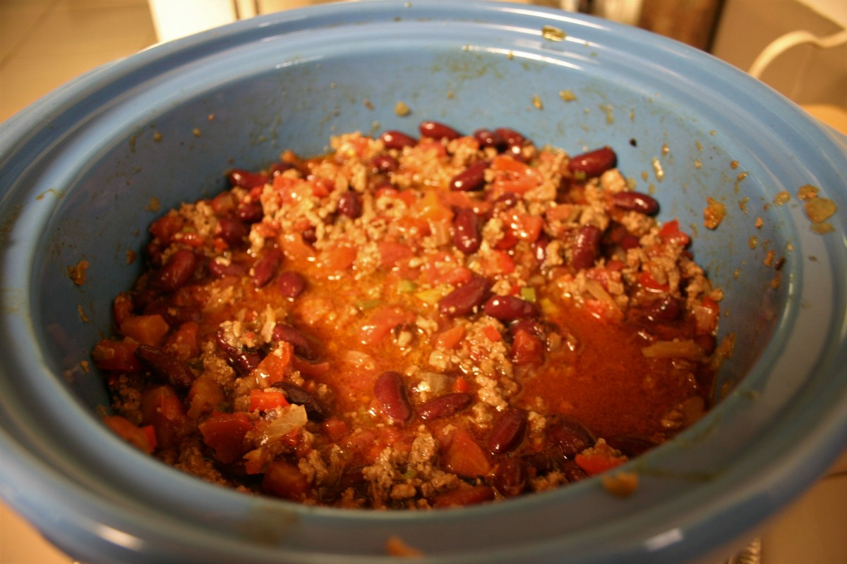 Slow-Cooker Beefy Kidney Bean Chili
