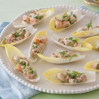 01 Belgian Endive Shrimp Appetizers