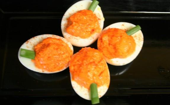 Deviled Pumpkin Eggs (3)