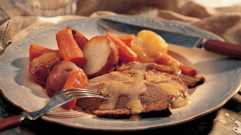 New England Pot Roast Supper with Pot Roast Gravy