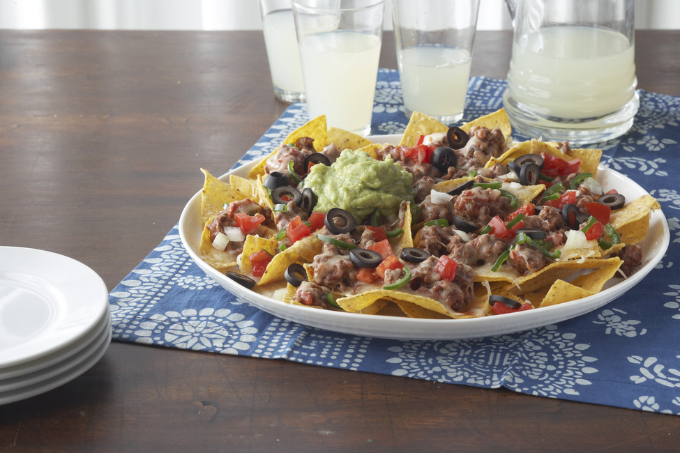 No Bean Cheesy Beef Nachos