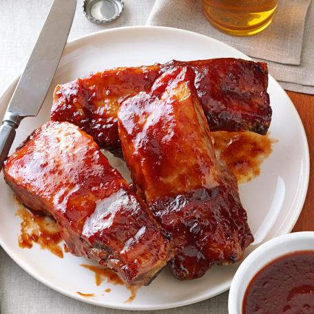 Red Currant Glazed Asian Ribs