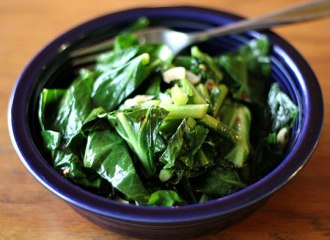 peppered collard greens