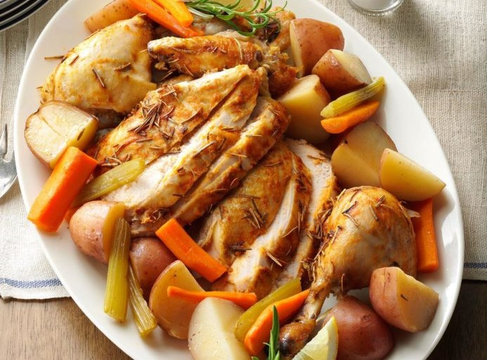 Slow-Roasted Sunday Chicken with Vegetables