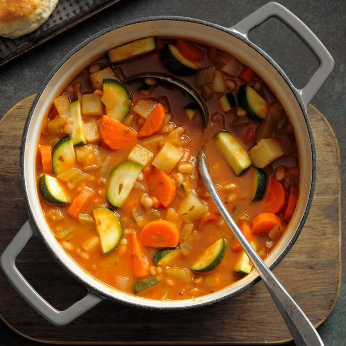 A Spicy White Bean Vegetable Soup to bring Warmth and Comfort