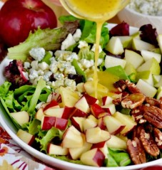 6 Pecan Pear Winter Salad with Diced Apples