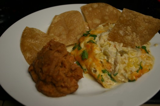 Green Chile Chicken Skillet With Fried Tortilla Chips (10)