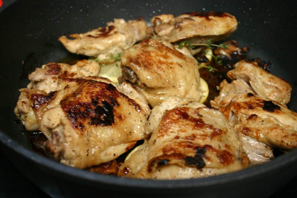 Italian Dressed Pan-Seared Chicken Thighs