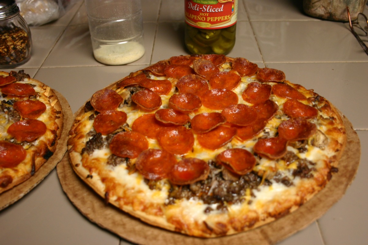 Cheating Meat Lovers CheesyPizza