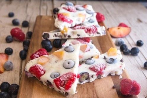 Frozen Berry Yogurt Bark