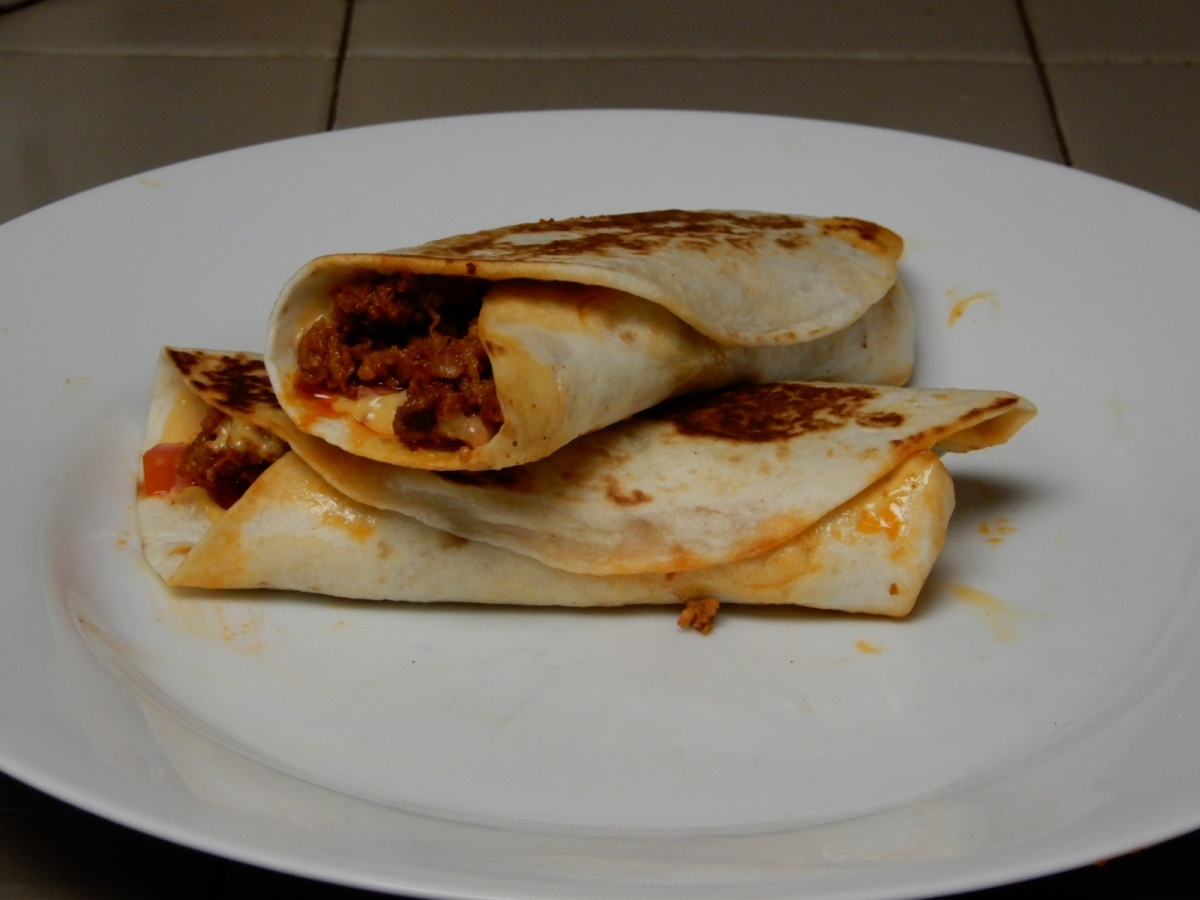 Nacho Cheese Grilled Chorizo Burritos