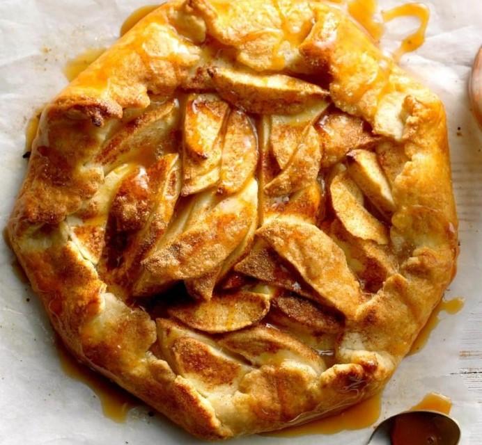Rustic Carmel Apple Galette make WeekendsSpecial