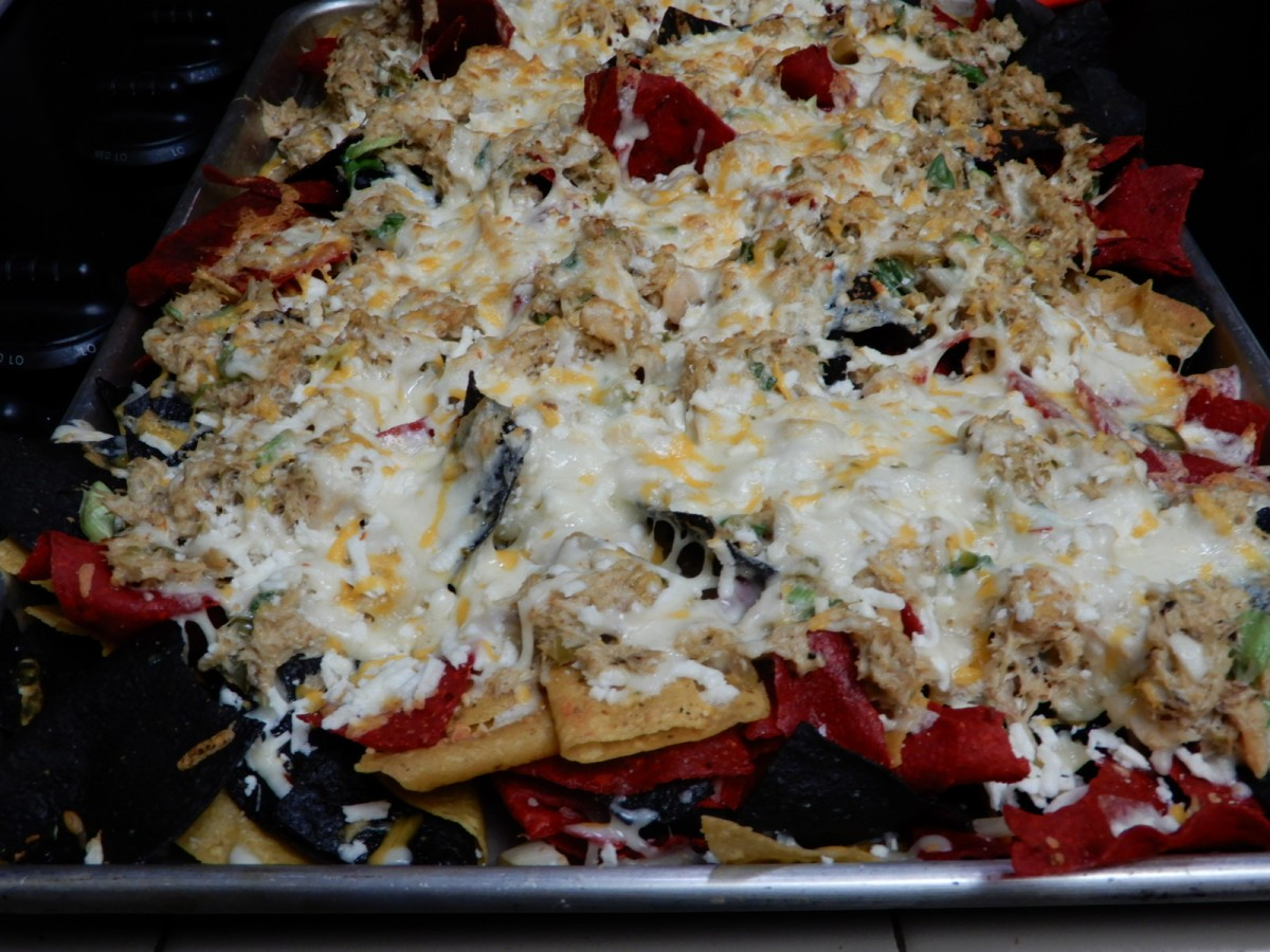 Seafood Nachos and Tortilla Chips