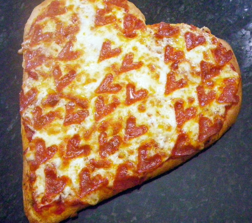 Valentine's Day Pepperoni Pizza