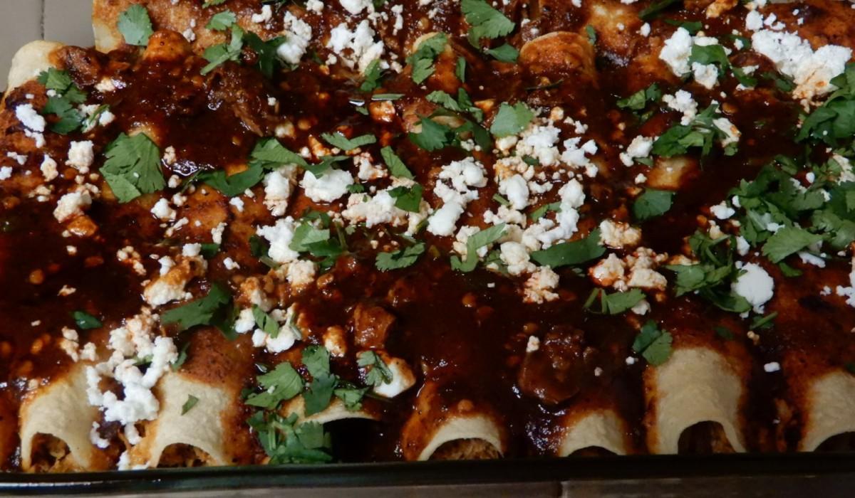 Instant Pot Ancho Chile ChickenEnchiladas