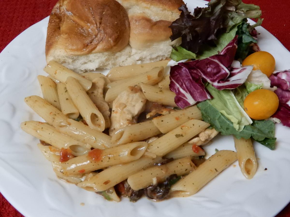 Italian Spinach Chicken with PennePasta