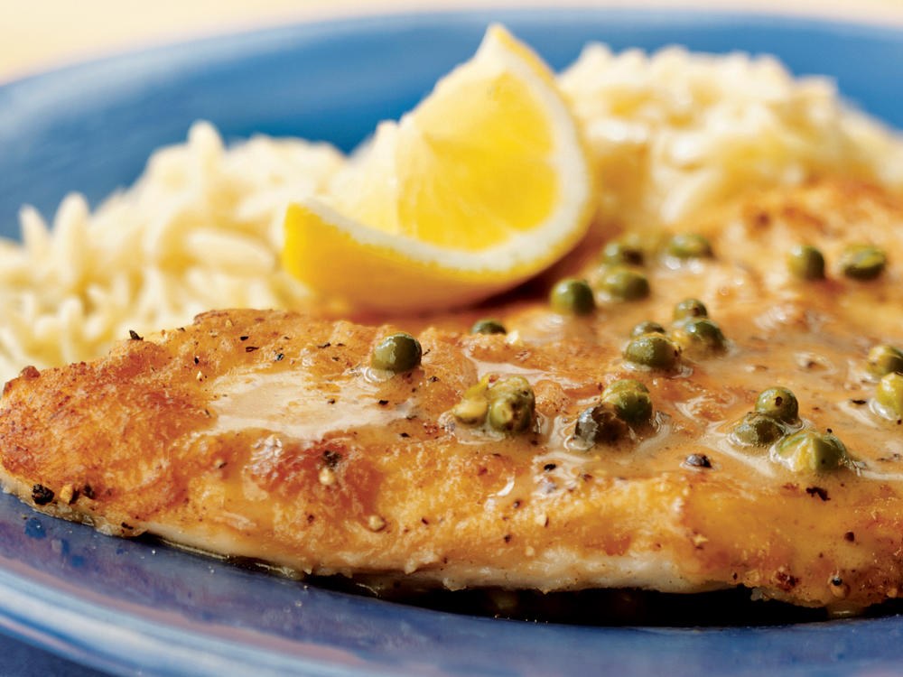 Sautéed Tilapia with Lemon-Caper Pan Sauce