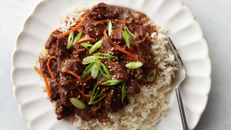 Slow-Cooker Mongolian Beef over Rice