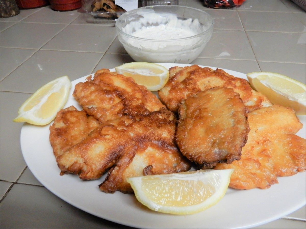 Beer-Batter Fish with Green Chile Tartar Sauce